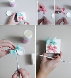 DIY wedding // how to make stiff, ribbon bow rings ~ which make great bridesmaid gifts // #12monthsofmartha #somethingturquoise