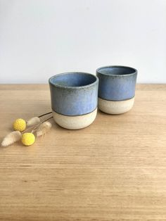Excited to share this item from my #etsy shop: Set of 2 Handmade ceramic stoneware cups in blue Ceramic Cups, Handmade Ceramic, Stoneware, Fox, Hand Painted, Etsy Shop, Ceramics, Blue, Ceramica