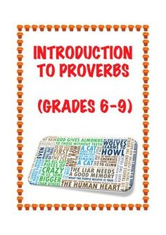 FREE today and forever. This is an introductory lesson/activity/worksheet that deals with twenty common and useful English proverbs. Perfect for MS.