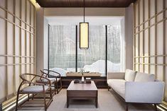 Asian Home Decor, quite clever transformation, you must read the pin example reference 8644311749 now. Zen Living Rooms, Living Room Interior, Living Room Designs, Chinese Tea Room, Modern Chinese Interior, Hotel Lobby, Zen Interiors, Interior Doors For Sale, Interior Architecture