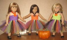 """Halloween Dream Dress Tutu for 18"""" doll such as the American Girl"""