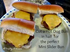 mini sliders bun, mo