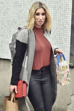 5af1fbec4aa76 Stacey Solomon seen at ITV Studios in London after presenting on the 'Loose  Women' show