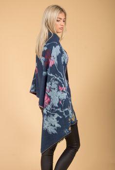 Jayley Cashmere Wrap | Blue Print Wrap