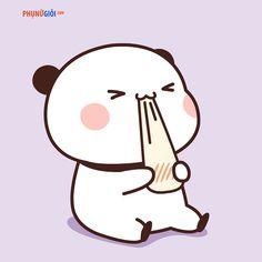 Cute Panda Drawing, Cute Bear Drawings, Cute Animal Drawings Kawaii, Chibi Panda, Chibi Cat, Cute Chibi, Cute Cartoon Pictures, Cute Love Cartoons, Cute Anime Character