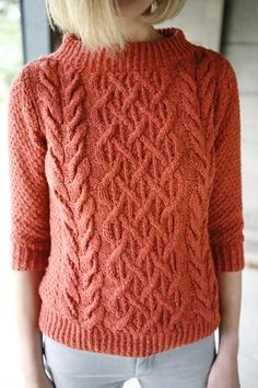 """Beatnik"" #knit sweater pattern by Norah Gaughan, free at knitty.com. Uses Berroco Remix yarn."
