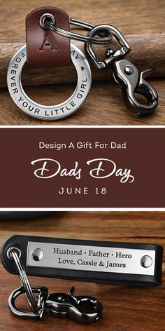 Design a custom gift for Dad, Step Dad, or Grandpa! Give him a special message, the coordinates of where his kids were born, the date he became a Father or have the kids write a special message with their handwriting and have it engraved into a bracelet or key chain. Lots of awesome gift ideas for the guy who provides, protects, and loves will all his heart.