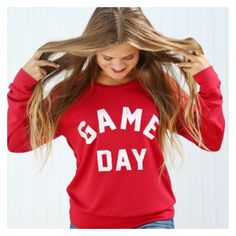 These Game Day sweatshirts are perfect for football season!