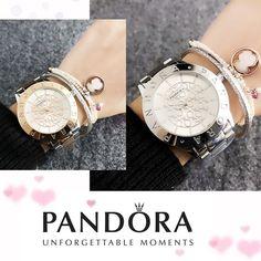 2d75aadd048b26 Tanie: Nowy kobiety bransoletka pandora charms srebro 925 oryginalny  pandora zegarek luksusowe panie zegarki dla