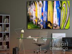Surf board fence Maui Hawaii by Edward M. Fielding - www.edwardfielding.com