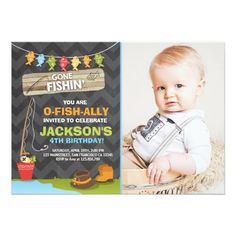 Fishing birthday invitation fishing first birthday invitation fish fishing birthday invitation fishing party boy stopboris Image collections