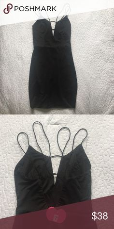 SABO Skirt Black Strappy Dress NWT never worn • size au 8, us 4 • fits more like an XS • beautiful strappy back detailing • zip closure • feel free to make an offer!! Sabo Skirt Dresses Mini