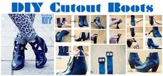Cut Out Boots | 14 DIY Boots That Were Made For Walking @Brittney Anderson Anderson Anderson Benjamin
