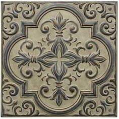 Provide an amazingly crafted look to your home decor with the selection of this extra ordinary StyleCraft Beige Beauty Medallion Traditional Beige Metal Work. Metal Ceiling Tiles, Metal Walls, Metal Wall Art, Plank Ceiling, Traditional Wall Decor, Traditional Decorating, Contemporary Wall Decor, Beige Walls, French Country Decorating