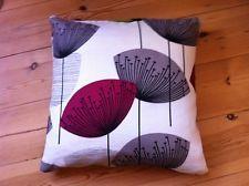 "Handmade Cushion Covers Sanderson Dandelion Clocks blackcurrent retro 16x16"""
