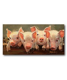Love this Four Little Piggies Wrapped Canvas by Courtside Market on #zulily! #zulilyfinds