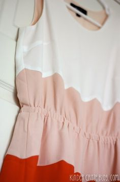 Daphne Scalloped Colorblock Dress from 41Hawthorn. Love the style and the colors!