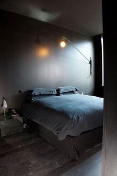 Minimal #bedroomlighting creates a modern aesthetic #utilitarianlighting