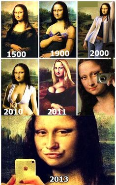 Mona Lisa demonstrates selfie evolution.