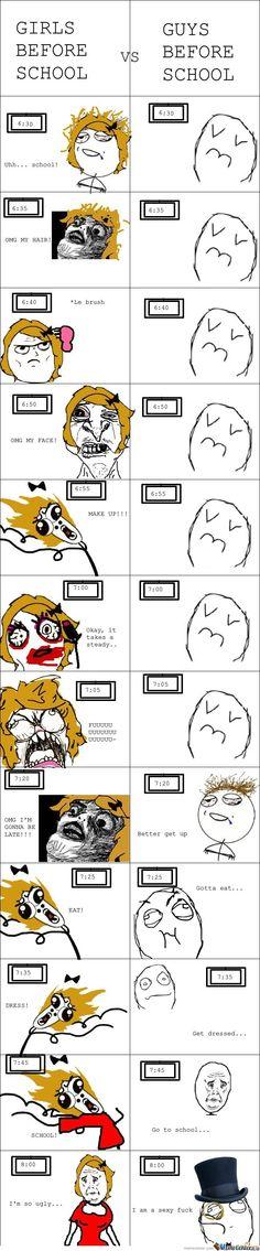 New Ideas funny school memes so true rage comics Rage Comics, Derp Comics, Funny Comics, Funny School Memes, School Humor, Funny Jokes, Hilarious, It's Funny, Guys Vs Girls