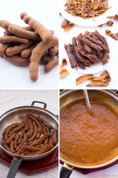 This sweet tamarind sauce is indeed a winning homemade sauce! Packed with tangy flavour and distinctive aroma that you definitely cannot beat any time. Tamarind Recipes, Tamarind Sauce, Tamarind Chutney, Mexican Food Recipes, Vegan Recipes, Cooking Recipes, Tamarin Fruit, Trinidad Recipes, Recipes