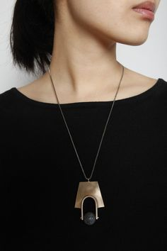Totokaelo - Quarry - Tuva Necklace - Bronze/Agate