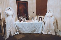 Displaying the mom and mother in law's gown at bridal shower - haha hilarious idea When I Get Married, I Got Married, Getting Married, Wedding Dress Display, Wedding Venues, Wedding Photos, Wedding Stuff, Bridal Shower Punch, Bridal Gowns