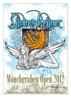 "An event poster PinUp: ""Simmozheimer Angel"" - lived there, done that"