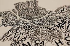 pittsburgh neighborhoods print