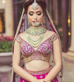 GLEAMING OFF-SHOULDER BLOUSE Indian Blouse Designs, Blouse Back Neck Designs, Bridal Blouse Designs, Saree Blouse Designs, Blouse Styles, Tikka Designs, Petite Bride, Lehenga Blouse, Lehenga Choli