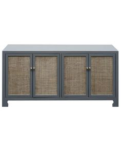 Storage Furniture - Rattan cane and lacquer are a material mix that works, and the Claire Cabinet display the best of both. Its cane cabinet doors add depth and textural contrast . Modern Coastal, Mid-century Modern, Grey Wood, Gray, Tabletop Fountain, Grey Cabinets, Bench With Storage, Cabinet Doors, Sideboard