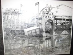 Wild Mouse at Coney Island - 1967 flood.