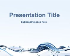 Water Conservation PowerPoint template - is a free water template for PowerPoint that you can use to create presentations about water or water conservation in PowerPoint.