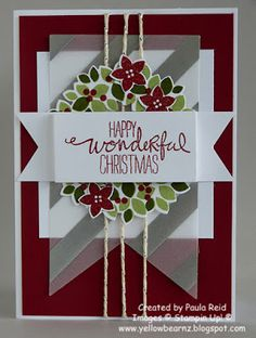 Yellowbear Stampin: CASEing the catalogue - Christmas cards