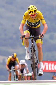 104th Tour de France 2017 / Stage 12 Arrival / Christopher FROOME Yellow Leader Jersey / Pau Peyragudes 1580m / TDF /