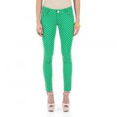 Green Polka Dot Skinnies