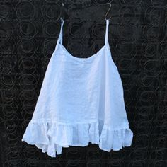 White Linen Camisole
