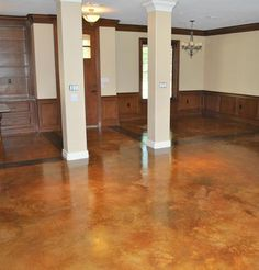 painted concrete floors for basement, there are some awesome floors on this site.  I would love to do this