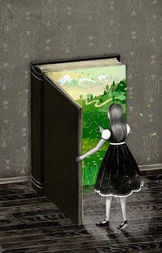 Art and illustration I Love Books, Good Books, Blog Art, Reading Art, Woman Reading, Inspiration Art, Book Illustration, Magazine Illustration, Book Lovers