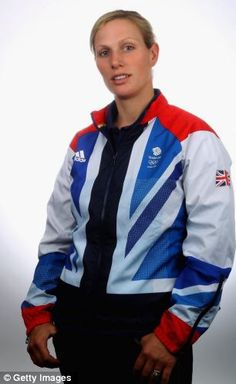 Dressed for success: Zara Phillips adopts the sporty look for the London Olympics.