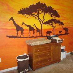 simple african savanna animals paintings - Google Search