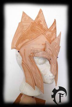 Elf Leather armor helmet WIP by Feral-Workshop on deviantART