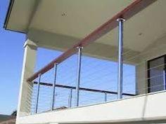 Image result for glass balustrade around  2m high deck