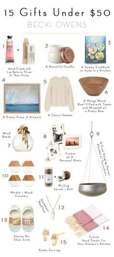 BECKI OWENS—Today I have a fun roundup of no-fail affordable gifts with ideas on how to make them personal. Take a look at these 15 gift ideas under $50.