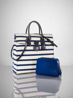Ralph Lauren Nautical Canvas Ricky Tote in Blue (natural navy) - Lyst  Nautical Canvas e6b39b8b36c3b