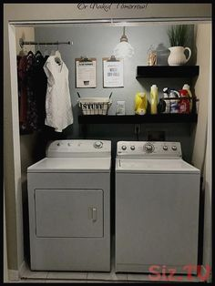 68 coolest laundry room ideas for top loaders with hanging racks 48 roo. 68 coolest laundry room ideas for top loaders with hanging racks 48 room ideas small top l Small Laundry Rooms, Laundry Room Organization, Laundry Storage, Laundry Room Design, Closet Storage, Diy Storage, Storage Ideas, Organization Ideas, Basement Storage