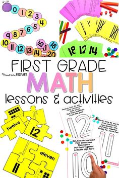 Mindful MATH for First Grade is a 10 unit math curriculum. Grade 1 math units include numbers to numbers to and numbers to addition to 10 Second Grade Math, First Grade, Grade 1, Homeschool Math, Curriculum, Homeschooling, Math Resources, Math Activities, Daily Math