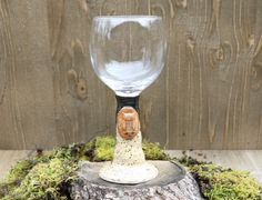 Pottery Owl Wine Glass, Ceramic Chalice, Woodsy Owl Wine Glass, Earthy Pottery, Pottery Goblet Unique Hostess Gift, Whimsical Pottery Gift by TheImmaculateRaven on Etsy