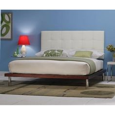 Delise Platform Bed- White Leather Headboard By Charles P. Rogers - Queen Platform Bed W/ Poole Ultra White Headboard by Charles P. Rogers Beds, http://www.amazon.com/dp/B004Z7MXXQ/ref=cm_sw_r_pi_dp_WU8mrb12NN4XZ