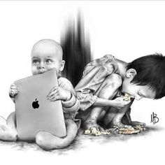 Sad Reality Of Today's World Pics) Meaningful Pictures, Powerful Pictures, Beautiful Pictures, Art Sketches, Art Drawings, Unique Drawings, Pencil Drawings, Pictures With Deep Meaning, Deep Images
